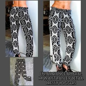 LN, Ambiance Apparel paisley joggers